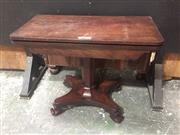 Sale 9059 - Lot 1062 - Mahogany Fold Over Card Table with Felt Interior