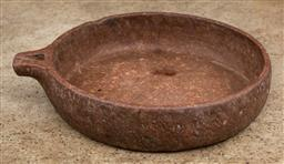 Sale 9160H - Lot 156 - A large clay bowl with one spout, Diameter 48cm