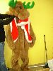 Sale 7490 - Lot 48 - 1 REINDEER FUR COSTUME WITH RED VEST