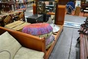 Sale 8013 - Lot 1220 - Timber Queen Sleigh Bed