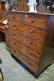 Sale 8093 - Lot 1787 - Victorian Mahogany Chest of Six Drawers
