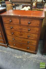 Sale 8390 - Lot 1002 - Early Victorian Mahogany Chest of Six Drawers, with attached false plinth