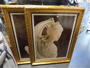 Sale 8429A - Lot 2056 - Pair of Classical Venus Prints in Ornate Frames