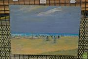 Sale 8525 - Lot 2098 - Donald Frazer - Beach Scene 26 x 35cm
