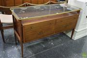Sale 8550 - Lot 1045 - Richard Hornby Teak and Rosewood Dressing Table with Floating Glass Top