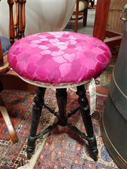 Sale 8843 - Lot 1072 - Red Upholstered Top Swivel Stool