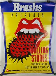 Sale 8960M - Lot 27 - Pair of Rolling Stones Voodoo Lounge Australian Tour 1995 Promotional Posters (L: 135cm W: 92cm)