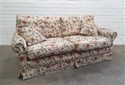 Sale 9071 - Lot 1037 - Floral Upholstered Two Seater Sofa by James Michael Decor (H:80 x W:190 x D:90cm)