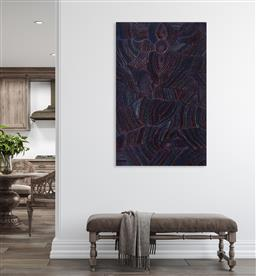 Sale 9148A - Lot 5074 - JOY PITJARA (1965 - ) Bush Plum acrylic on canvas 149 x 94 cm (stretched and ready to hang) signed verso; certificate of authenticit...