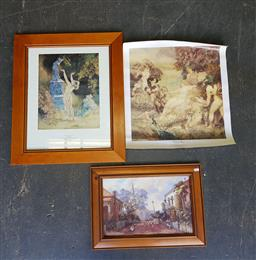 Sale 9176 - Lot 2174 - Group of three decorative prints including Norman Lindsay & Darcey Doyle