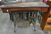 Sale 8262 - Lot 1086 - Timber Cased Sewing Machine on Iron Base