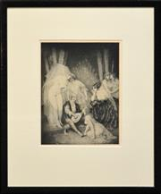 Sale 8309A - Lot 100 - Norman Lindsay (1878 - 1969) - Ragged Poet 35 x 26.5cm