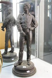 Sale 8327 - Lot 13 - Spelter Sculpture of a Fencer by Chmasse