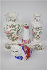 Sale 8381 - Lot 138 - Aynsley Pembroke Reproduction Wares with Other Ceramics incl Royal Doulton Union Jack Bulldog