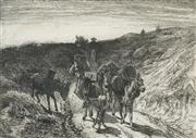 Sale 8548 - Lot 2005 - Peter Moran (1841 - 1914) - A Burro Train, New Mexico 16.5 x 23.5cm