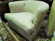 Sale 8545 - Lot 1089 - Gold Upholstered Tub Chair (050875)