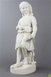 Sale 8563 - Lot 262 - Parian Ware Young Englands Sister Sculpture By Charles Halse