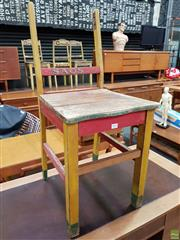 Sale 8607 - Lot 1019 - Arnotts Sao Savorette Shop Display Chair (missing back rail)
