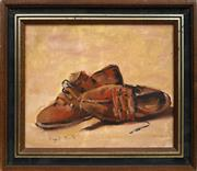 Sale 8690A - Lot 5013 - Mayo Smith - Still Life - Peasant Shoes 24 x 29cm