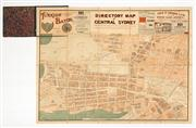 Sale 8716A - Lot 25 - An interesting antique directory map of central Sydney, late 19th, early 20th century, paper on cloth backing folded into thick carb...