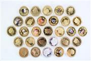 Sale 8835C - Lot 86 - Large Collection of the Crown Coin Collection of the British Monarchy, Mainly Depicting Queen Elizabeth II (2016), Diana, and Others