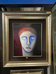 Sale 8914 - Lot 2008 - Artist Unknown Pensive acrylic, signed -