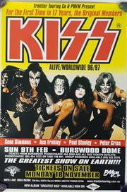 Sale 8960M - Lot 26 - Pair of KISS Alive/Worldwide 1996/97 Perth Concert Promotional Posters (L: 70.5cm W: 48cm)