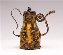 Sale 9128 - Lot 93 - A Chinese metal mounted teapot H: 14cm