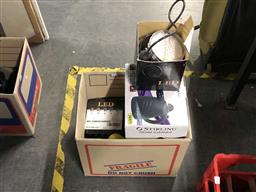 Sale 9176 - Lot 2225 - 3 LED Lights, Fly Trap & Stirling Steam Cleaner in Box