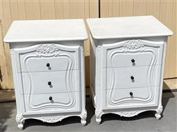 Sale 9248H - Lot 220A - A pair of French style painted bedside cabinets Height 76cm Width 59cm Depth 49cm