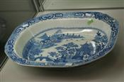 Sale 7874 - Lot 32 - English Willow Pattern Serving Bowl (38)