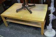 Sale 8013 - Lot 1100 - A Modern Two Tier Timber Coffee Table