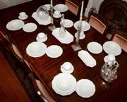 Sale 8107B - Lot 48 - A Rosenthal Dinner Service for six persons in white includes platters