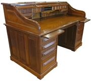 Sale 8258A - Lot 96 - Large walnut Cutler desk in pristine condition beautifully restored 1990's French polished, probably the best Cutler around, circa 1..