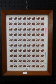 Sale 8362 - Lot 287 - Chinese Pig Stamps in Frame (Height - 37cm)