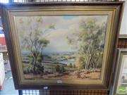 Sale 8513 - Lot 2088 - Countryscape Camden Hills, 1974, signed D. Kingston