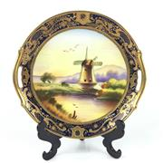 Sale 8545N - Lot 188 - Continental Haindpainted Cabinet Plate, signed (Diameter 24cm)