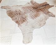 Sale 8568A - Lot 51 - A zebra skin rug, L approx. 200cm, faded, ex Edgecliff b