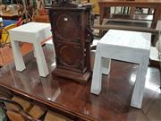 Sale 8740 - Lot 1140 - Pair of White Timber Stools (H: 45cm)