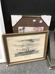 Sale 8779 - Lot 2082 - 2 Works: Framed Watercolour & P&O Print