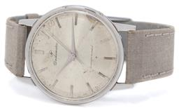 Sale 9156J - Lot 362 - A VINTAGE SEIKOMATIC STAINLESS STEEL WRISTWATCH; cartwheel dial, applied markers, centre seconds, crown at 4 oclock, Seikosha 20 je...