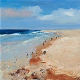 Sale 9150 - Lot 543 - CHERYL CUSICK Walking the Shores acrylic on canvas 92 x 91 cm signed lower right