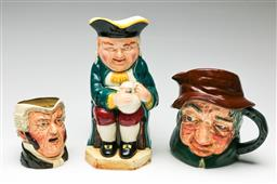 Sale 9209V - Lot 68 - A set of three character jugs including Royal Doulton Uncle Tom Cobbleigh (tallest 23cm)
