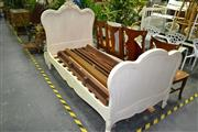 Sale 8050B - Lot 25 - Antique French White Painted Single Bed