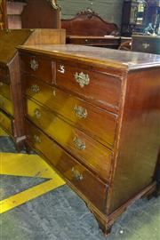 Sale 8093 - Lot 1795 - Georgian Style Mahogany & Inlaid Chest of Five Drawers