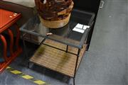 Sale 8138 - Lot 924 - Glass Top Occasional Table