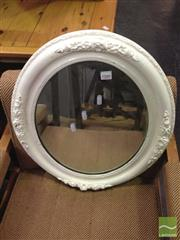 Sale 8412 - Lot 1080 - Oval Mirror with Painted Frame