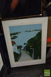 Sale 8506 - Lot 2088 - Jacqui Henwood - View from Vaucluse, screenprint ed. 30/90, signed lower left, frame size: 100 x 77cm.