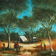 Sale 8813 - Lot 523 - Kevin Charles (Pro) Hart (1928 - 2006) - Trappers 29.5 x 29.5cm