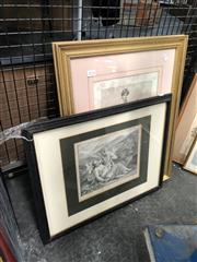 Sale 8797 - Lot 2112 - 2 Engravings: Cupid & The Fates Or Moira
